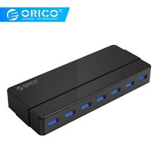 ORICO 7 Port USB 3.0 HUB with 12V Power Adapter USB Splitter OTG Adapter For PC