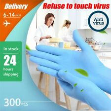 50-300PCS Anti Virus Disposable Gloves Latex White Non-Slip Kitchen Medical Work