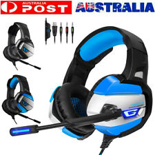 Gaming 3.5mm Headset with Microphone Stereo Sound for PC Computer/Mobile PS Xbox