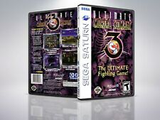 Ultimate Mortal Kombat 3  - Saturn - Remplacement - Cover/Case - NO Game