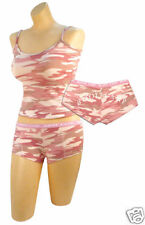 WOMEN'S BABY PINK CAMO ''BOOTY CAMP''  SHORTS AND OR TOP