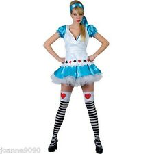 LADIES WOMENS SEXY ADORABLE ALICE IN WONDERLAND FANCY DRESS COSTUME OUTFIT SIZE