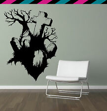 Dead Tree Grave Headstone Cross Horror Wall decal