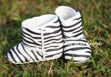 Zebra Print Newborn Baby Infant Crib Shoes Boots 6-24Ms