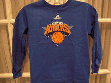 NWT Adidas Little Kids New York Knicks LS Tee - 4-7