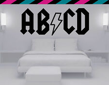 ABCD ACDC Nursery baby kids Wall decal Decimator diecut