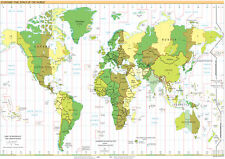 Brand New Poster Print - World Map - Time Zones (A3/A4)