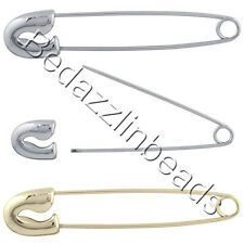 Lot of 12 Craft Safety Pins with Screw on Removable Head 4 Beads & Charms