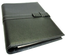 Day-Timer Genuine Pebble Leather Organizer Day Planner