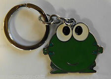 CUTE LARGE GREEN FROG METAL KEYRING CHAIN HANDBAG CHARM UK SELLER FREE UK P&P