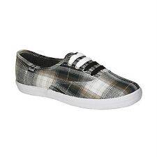 Keds Champion 'Black Fall Plaid' Ladies Lace Up Sneaker (See Available Sizes)