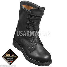 US Army Military Police Waterproof Cold Wet Weather Black Leather Combat Boots
