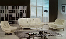 Modern design leather sofa loveseat swivel chair set couch home living furniture