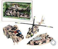 Rothco 572 Super Warrior Play Set- 3 Men,2 Guns,1 Boat,1 Helicopter and More