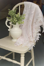 """Heritage Lace Tea Rose Table Topper 30"""" x 30"""" Square - Colors: Ecru and White"""
