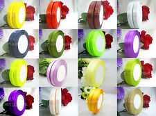 "50 yds 3/8""(9mm) Multicolor Wedding Party Craft Satin Ribbons New Free Shipping"