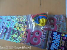 9ft Happy birthday banner and 10 Balloons ages 18-80 BN FREE POST AND PACKING