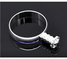 5pcs New Charm Silver Plated Rings Fit European Beads Size Choice JZ1