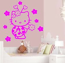 Stickers muraux déco mural chambre HELLO KITTY 2 tailles disponibles