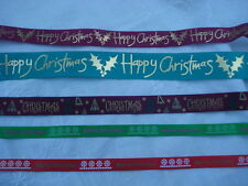 Christmas Ribbon, 9mm, 15mm, 24mm, 2 metres, 3 designs.