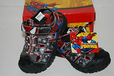 NWT NEW SPIDERMAN LIGHT UP boys shoes sandals 5 6 9 toddler