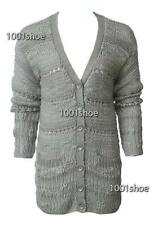new RRP $170 WITCHERY GREY CHUNKY WOOL CARDIGAN JUMPER