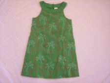 NWT Girl's Gymboree Palm Beach Paradise green flamingo dress ~ 3 6 9