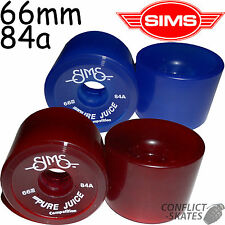 SIMS Pure Juice Competition Skateboard Wheels Old School 1970s 66mm 84a Comp