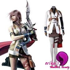 New Highest Quality Final Fantasy XIII 13 Lightning Cosplay Costume Whole Outfit