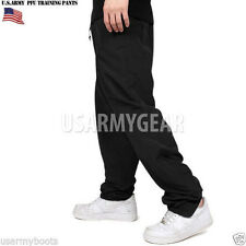 Made in US ARMY MILITARY IPFU PHYSICAL FITNESS TRAINING PT SWEAT PANTS BLACK NEW