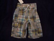 NWT Boy's Gymboree Surf Rocks gray green elastic shorts ~ 12-18 months 5T