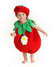 Kids Bubble Strawberry Fuzzy Jumpsuit Halloween Costume
