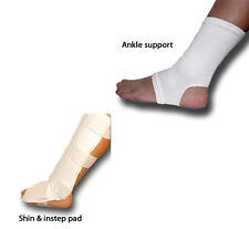 Elastic ankle/foot pad/support, velcro shin & instep - sold in pairs - FREE P&P