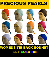 Bonnet cap tie back under scarf hijab abaya 40 + colours ***BUY 4 GET 1 FREE***