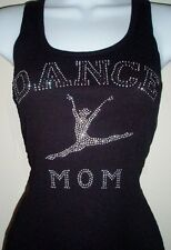 RHINESTONE (DANCE MOM) TANK TOP SHIRT BLACK SIZE:S,M,L,X,2XL,3XL PLUS SIZE