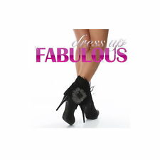 NEW SEXY WOMENS SHOES ANKLE BOOTS HIGH HEELS STILETTOS BLACK SIZE 4.5 5 6 7 8 9