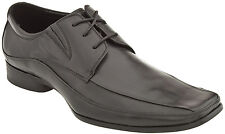 Men's Kenneth Cole Reaction Field Note Black Bicycle Toe Lace Up Dress Shoe