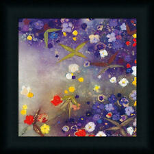Gardens in the Mist X by Aleah Koury Purple Abstract 12x12 Framed Art Print