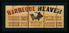 Barbeque Heaven by Pela Studio Country Rustic Sign 20x8 Framed Art Print Picture