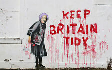 New Poster Print - Banksy: Keep Britain Tidy A3 / A4