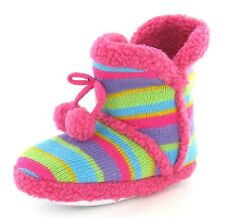 GIRLS MULTI COLOURED BOOT SLIPPERS (X2038)