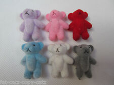 3 10 or 25 1/12th SCALE SMALL TINY MINIATURE DOLL HOUSE CRAFT TEDDY BEARS UKSELL