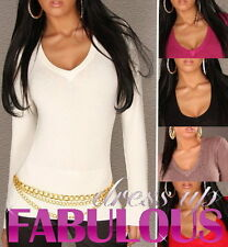 NEW SEXY SIZE 6-8-10-12 WOMEN'S PARTY JUMPER SWEATER TOP WHITE GREY BLACK PINK