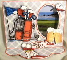 Handmade Greeting Card - On the Golf Links 3D Window Easel Card