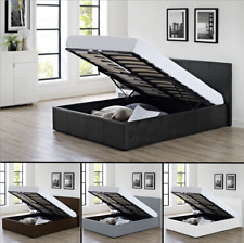 Storage Ottoman Bed With Memory Foam Mattress Brown, Black, White 3ft Single Bed