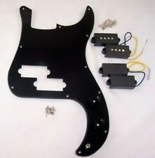 SCRATCHPLATE & PICKUP ASSEMBLY FOR PRECISION BASS/CHOICE OF PUPS / BK SINGLE PLY