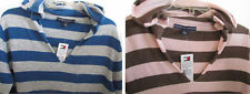 NWT Tommy Hilfiger Hooded V-Neck Long Sleeve Knit Sweater S, XL, XXL