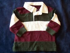 NWT Boy's Gymboree Grizzly Lake long sleeve polo shirt ~ 3 6 12 months 2 2T