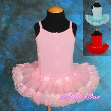Girl Ballet Tutu Dance Costume Fairy Fancy Dress Leotard Size 2T-5 #019