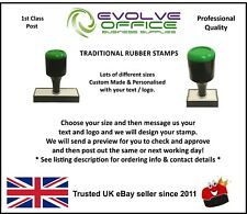 Custom Made Rubber Stamp - Traditional Style - Lots of Sizes Available